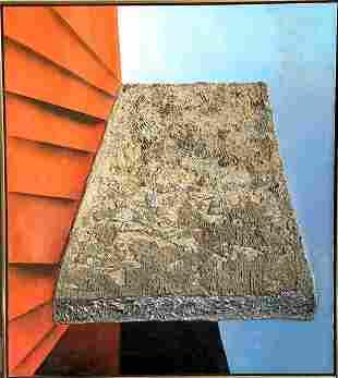 Mixed media surrealist by Enrico Donati