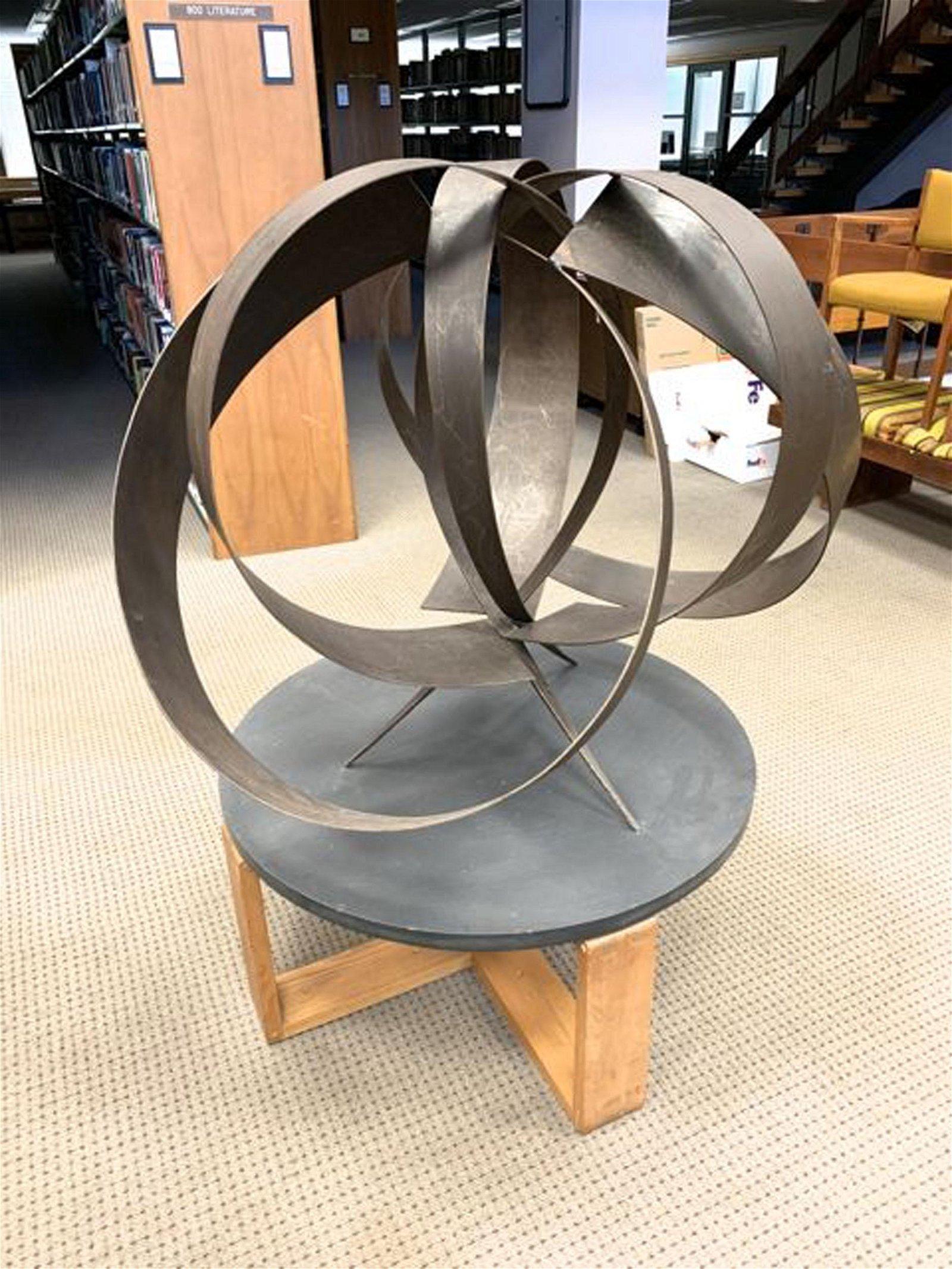 Mid century welded steel sculpture