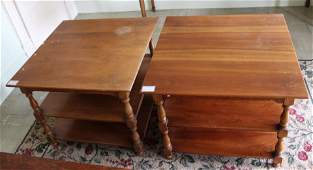 pair of Stickley Cherry Valley end tables