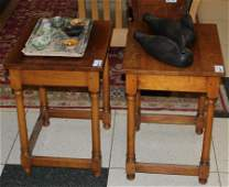pair of Leopold Stickley Cherry Valley end tables