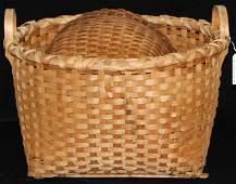 NE farm basket, covered Indian basket