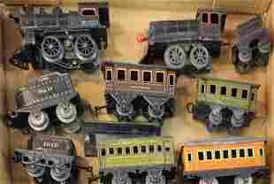 early cast iron & tinplate locomotives & cars