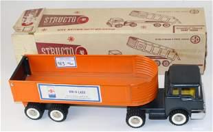 Structo pressed steel hydraulic trailer dump truck