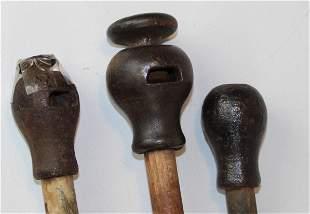 three ca 1900 toy cap canes