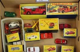six Matchbox cars MIB mint in box