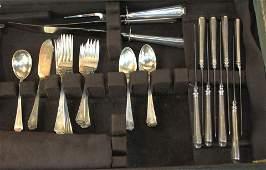 43 pcs. Gorham Fairfax sterling silver flatware