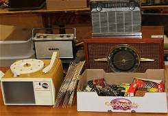 Vintage radios and Show N Tell phono viewer