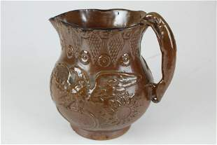 hound-handled pitcher with eagle