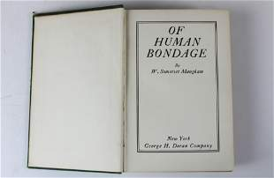 W. Somerset Maugham Of Human Bondage