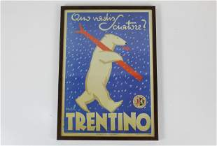 Reproduction 1947 Italian ski poster