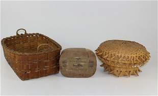baskets, papered band box