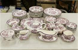 80 pcs Royal Staffordshire Tonquin dinnerware