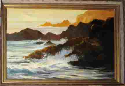 Margaret Alderson (AM 20thc) Crashing Waves