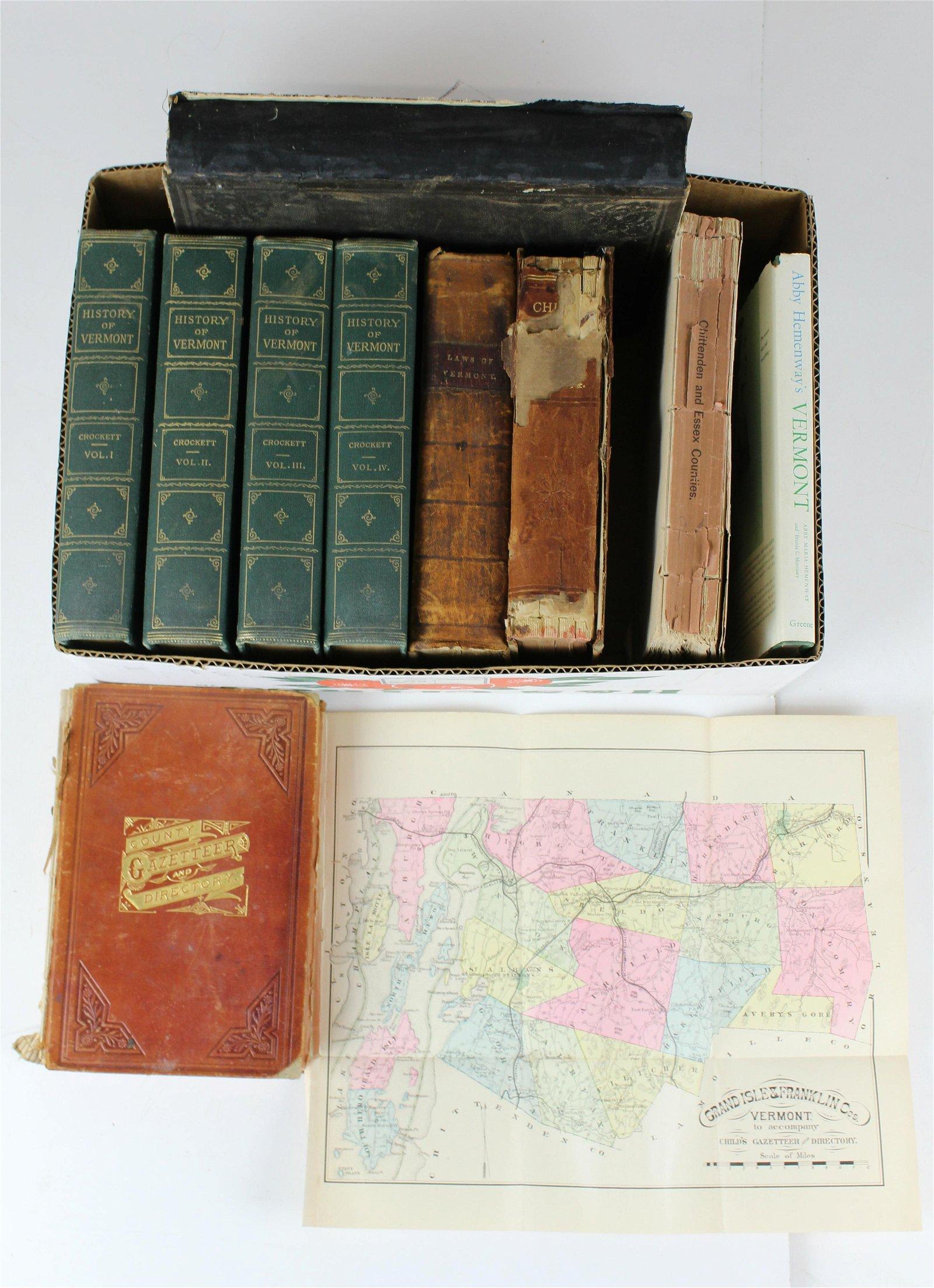 19th c VT books, gazetteers, imprints