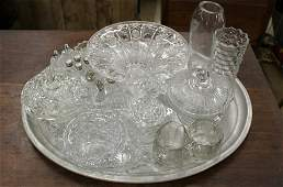 lot of assorted Victorian and 20th c glassware