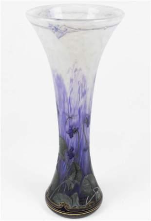 Monumental Daum Nancy French art glass vase
