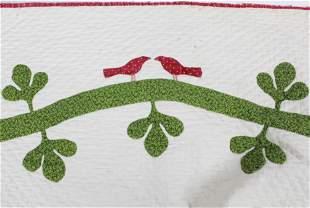 19th c Flower & Vine Applique Quilt