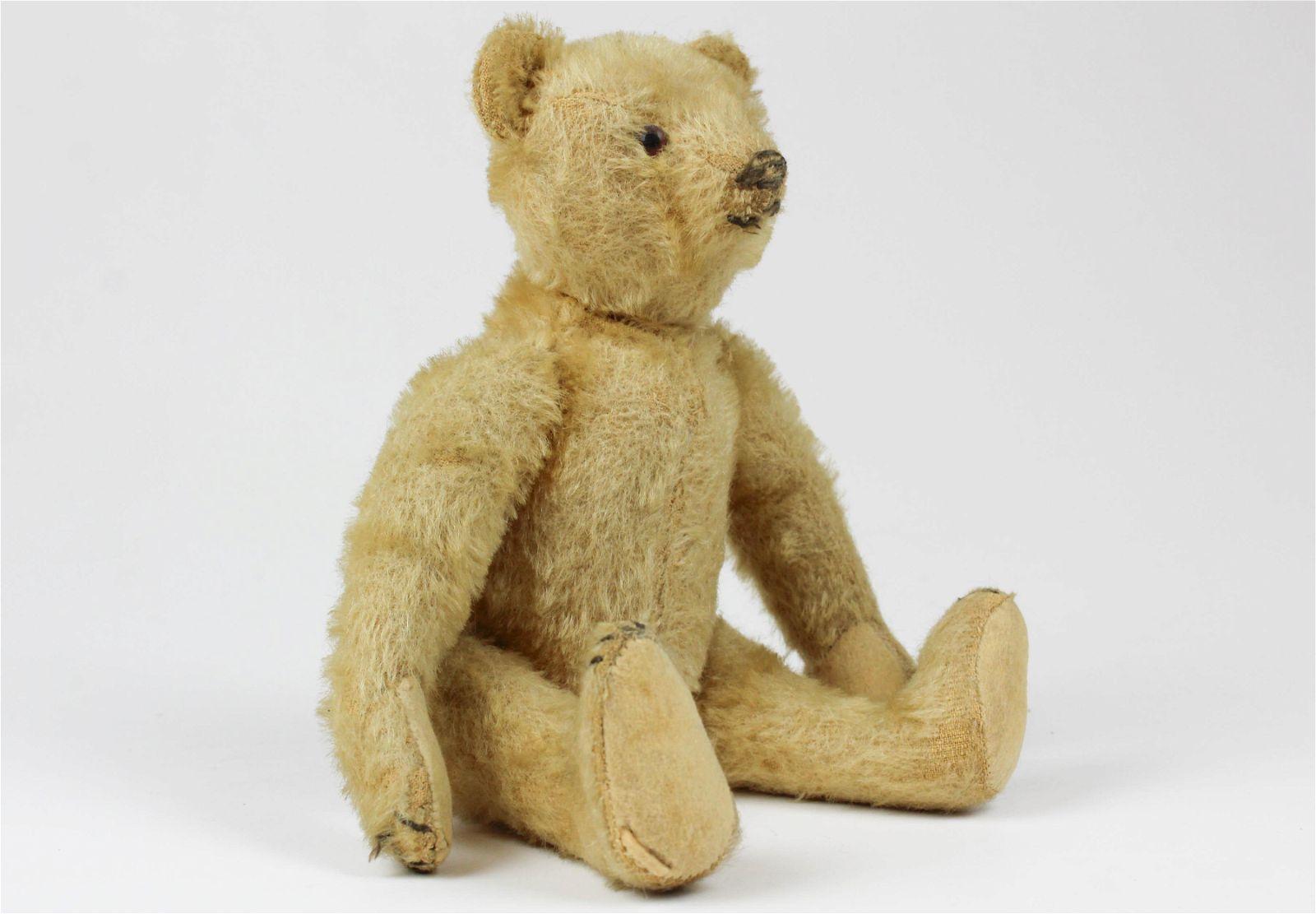 Early Steiff Jointed Mohair Teddy Bear