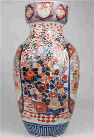 Large 19th c Japanese Imari palace vase
