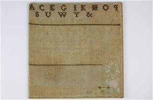 1833 Elizabeth Eaton needlework schoolgirl sampler