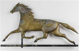 Copper Running Horse Weathervane