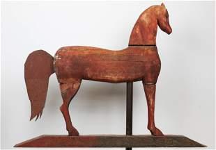 Carved Wooden Horse Weathervane