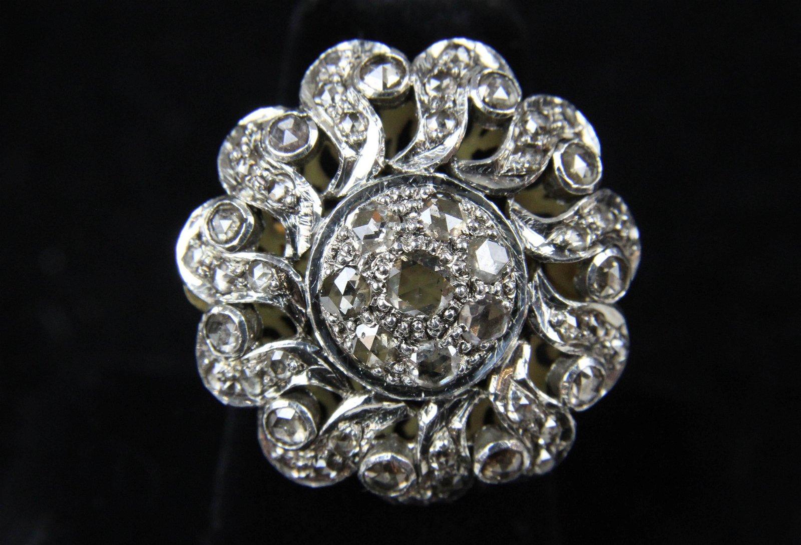 Late 18th c rose cut diamond ring