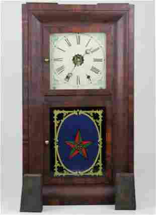 Early 19th c New Haven Mfg Co Shelf Clock