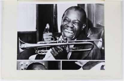 Louis Armstrong Press Photo