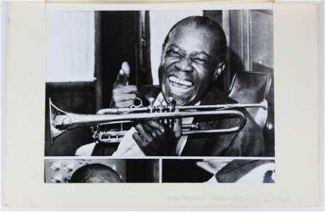 Louis Armstrong Press Photo