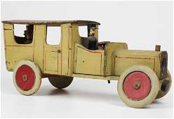 Early 20th c Folky Toy Wooden Car