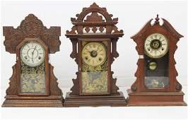Three Victorian Gingerbread Clocks