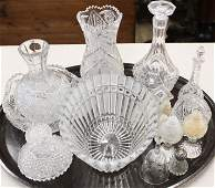 13 pcs. Brilliant Cut Glass and Lead Crystal