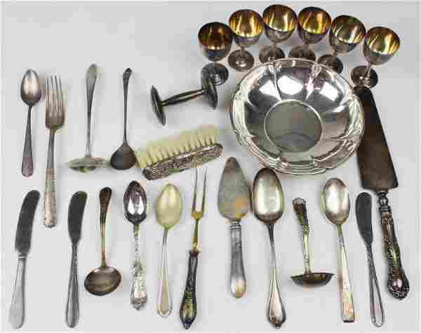 Assorted Sterling Silver Flatware and Hollowware