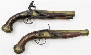 Pair of Circa 1750 Heylin Cornhill London Pistols