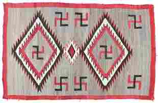 Navajo 4 Color Blanket with Tumbling Logs