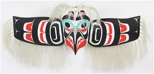 Haida Inuit Carved Eagle Mask