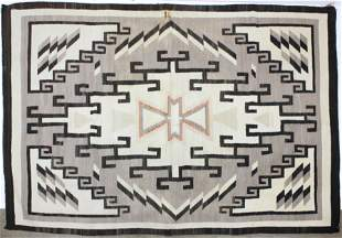 Navajo 6 Color Blanket with Geometric Designs