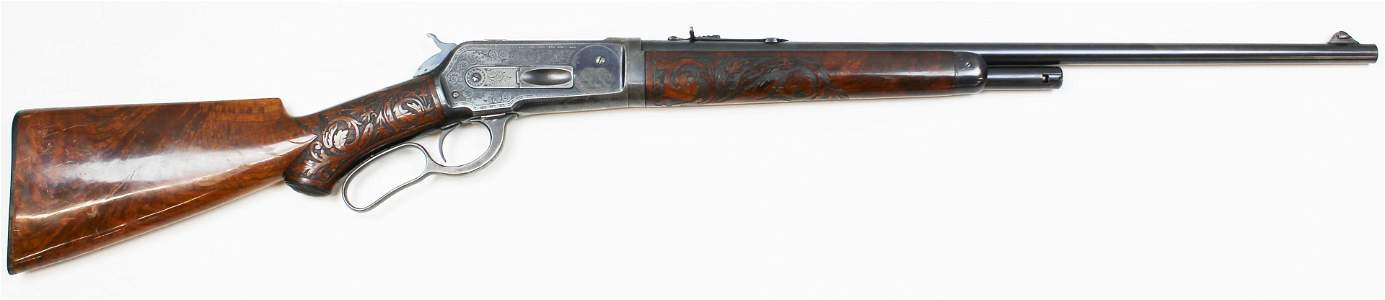 Ulrich engraved Winchester Model 1886 in .33 WCF