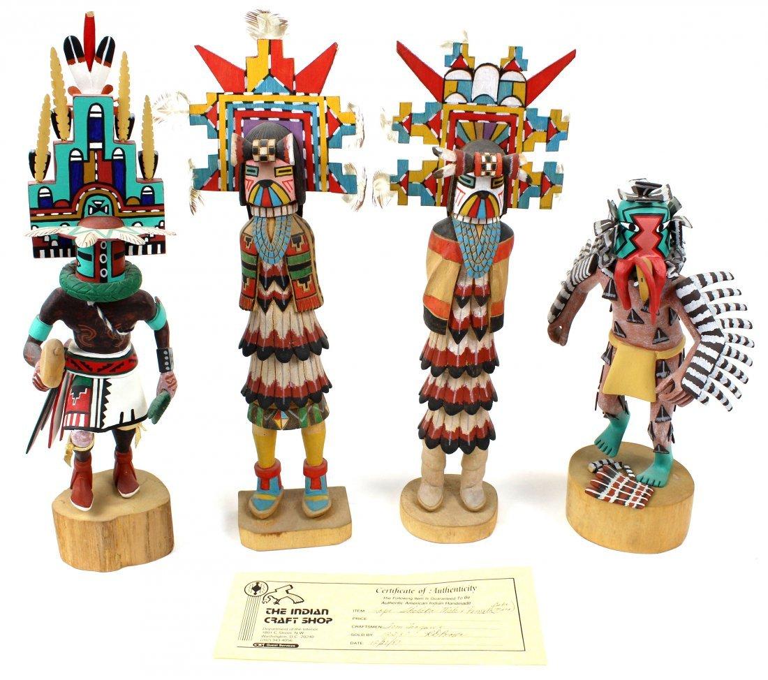 4 Native American Kachina Dolls