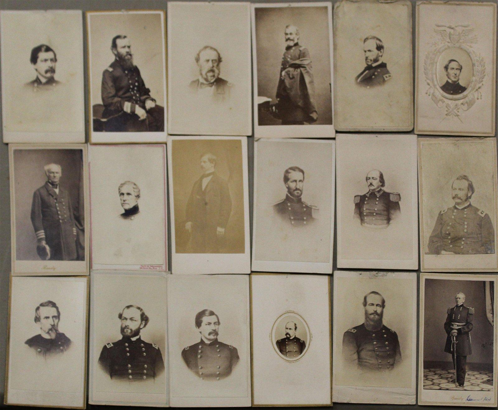 20 Civil War Officer CDV's incl Bradys