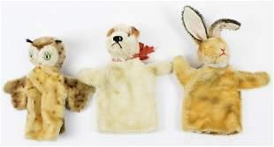 3 Steiff Hand Puppets