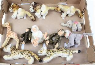 11 Steiff Exotic Animals