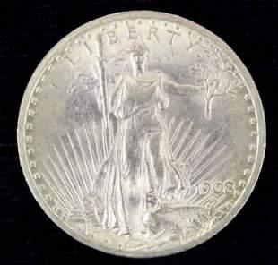 1908 US St Gaudens Twenty Dollar Gold Coin