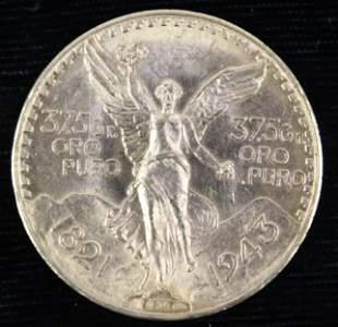 1943 Mexican 50 Pesos Gold Coin