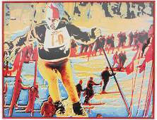 Jean-Claude Killy Stowe, VT Skiing Poster
