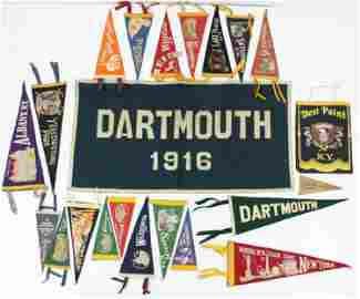 Collection of 20th c Pennants
