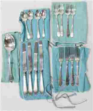 17 pcs. Tiffany & Co. Faneuil Sterling Flatware