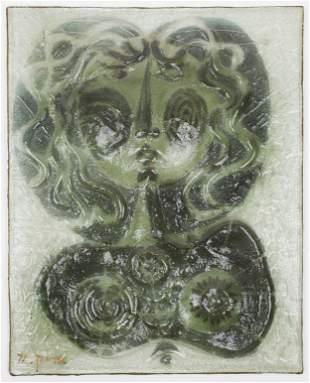 1971 Arik Levy Glass Mask Sculpture