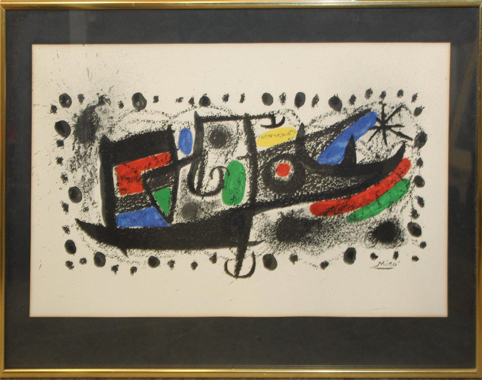 Joan Miro (SP 1893-1983) Star Scene